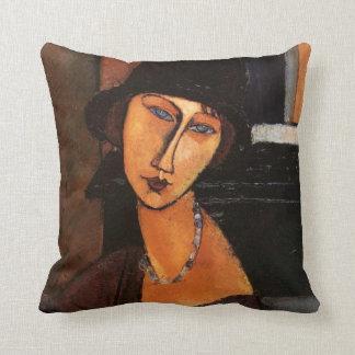 Almofada Modigliani - retrato do travesseiro de Jeanne