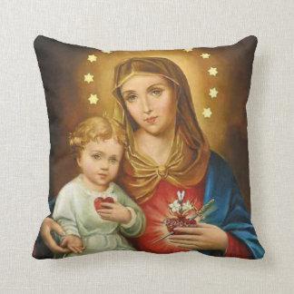 Almofada Monstrance imaculado dos anjos de Mary Fatima do