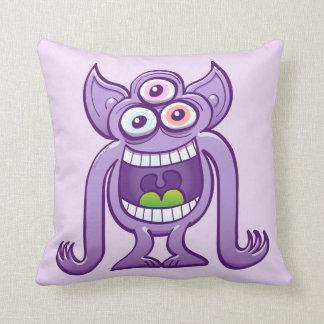 Almofada monstro estrangeiro Três-eyed que ri perniciosa