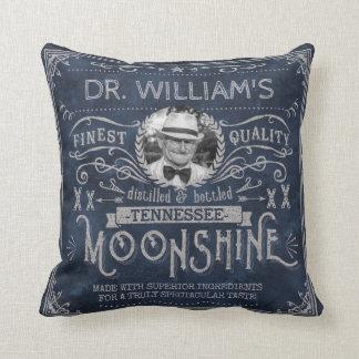 Almofada Moonshine o azul feito sob encomenda do vintage da
