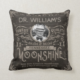 Almofada Moonshine o costume Brown do vintage da medicina