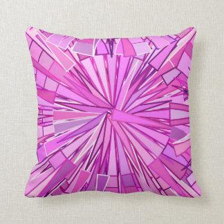 Almofada Mosaico, violeta e orquídea geométricos modernos