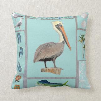 Almofada Motivo do pelicano de Florida