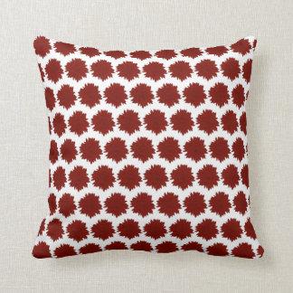 Almofada Motivo vermelho do girassol da silhueta