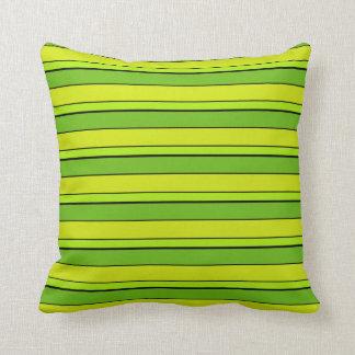 Almofada Multi tom verde listrado