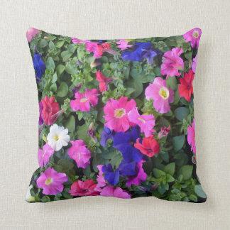 Almofada Multi travesseiro colorido da flor do petúnia