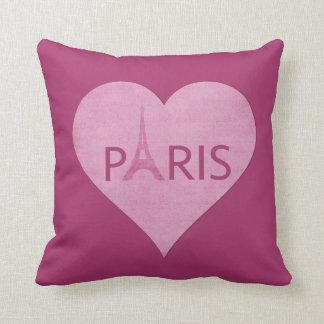 Almofada Música cor-de-rosa à moda do coração da torre