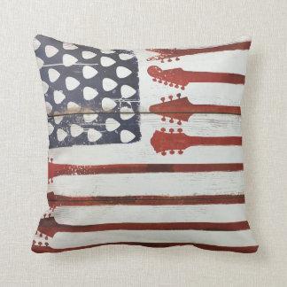 Almofada Música patriótica da guitarra da bandeira