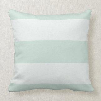 Almofada Na moda-Propriedade-Celadon-Listra-Branco-Quadrado