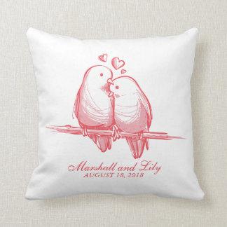 Almofada Namorados doces dos Lovebirds que Wedding o