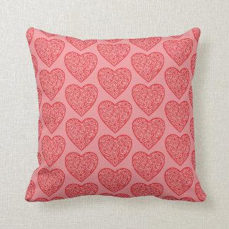 Almofada Namorados vermelhos/amor dos corações