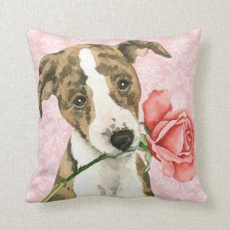 Almofada Namorados Whippet cor-de-rosa