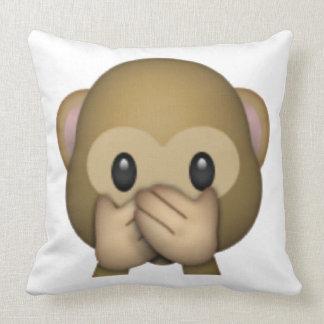 Almofada Não fale nenhum macaco mau - Emoji