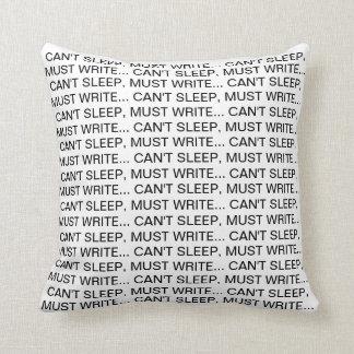 Almofada Não pode dormir, deve escrever o travesseiro