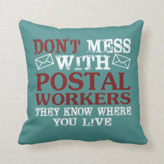 Almofada Não suje o trabalhador postal