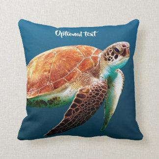 Almofada Natação bonita da tartaruga de mar