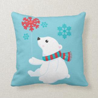 Almofada Natal do feriado do urso polar |
