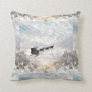 Almofada Natal do pai, rena no travesseiro decorativo do