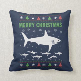 Almofada Natal do tubarão