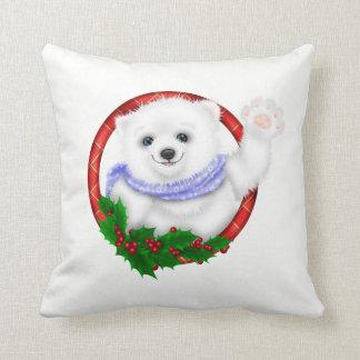 Almofada Natal elegante do urso polar