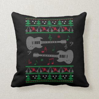 Almofada Natal feio da guitarra