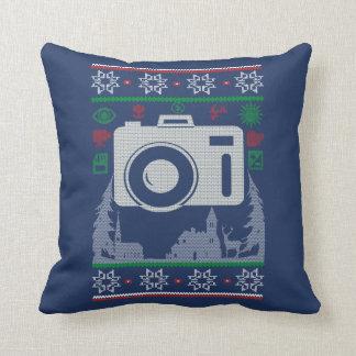 Almofada Natal feio do fotógrafo