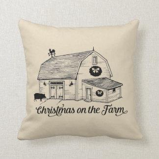 Almofada Natal no travesseiro decorativo da fazenda