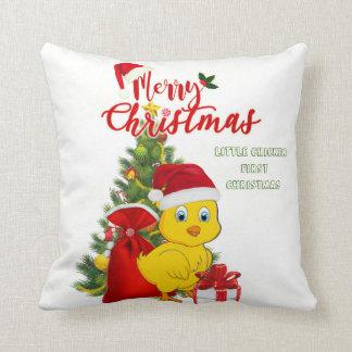 Almofada Natal pequeno da galinha do bebê