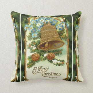 Almofada Natal vintage Bell e Pinecones