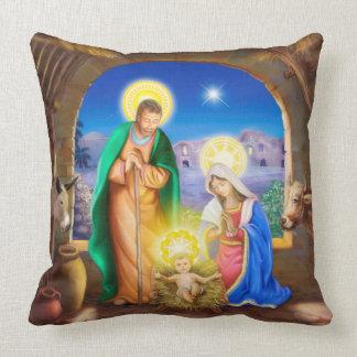 Almofada natividade do travesseiro do cristo