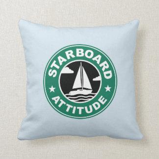 Almofada Navigação estibordo do barco da atitude marítima