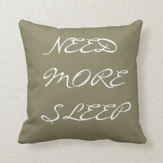 Almofada Necessidade do travesseiro decorativo mais sono