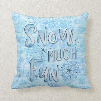 Almofada Nevam os flocos de neve de muita aguarela do