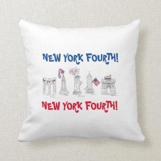 Almofada New York quarta! NYC travesseiro patriótico do 4