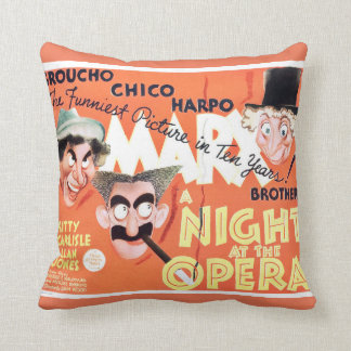 Almofada Noite do vintage no travesseiro dos irmãos de Marx