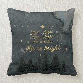 Almofada NOITE SILENCIOSA do travesseiro decorativo