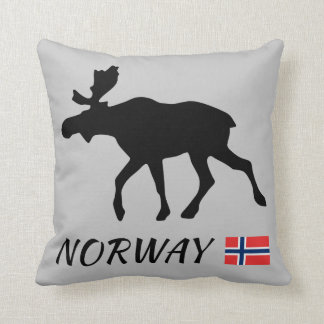 Almofada Norway Elk and Flag