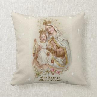 Almofada Nossa senhora de Monte Carmelo com o bebê Jesus