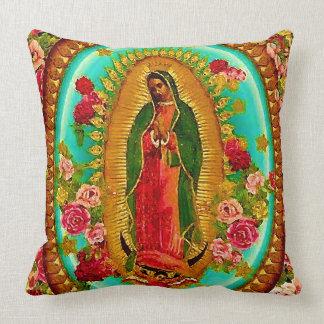 Almofada Nossa Virgem Maria mexicana do santo da senhora