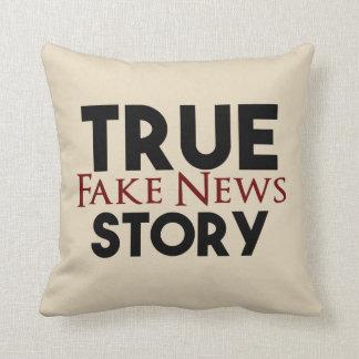 Almofada Notícia verdadeira da falsificação da história