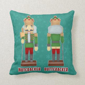 Almofada Nutcracker engraçado Buttcracker do Natal cómico