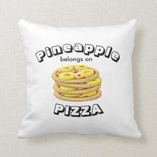 Almofada O abacaxi pertence na pizza Pillow-2 tomou partido