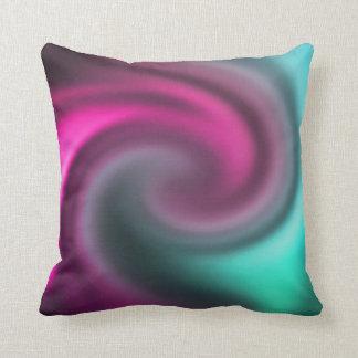 Almofada O abstrato coloriu o travesseiro do redemoinho