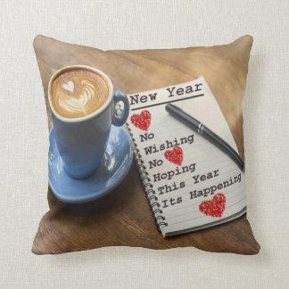 Almofada o ano novo do travesseiro decorativo