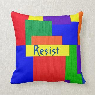 Almofada O arco-íris resiste o travesseiro do design da