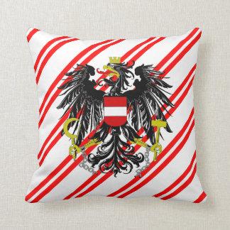 Almofada O austríaco listra a bandeira