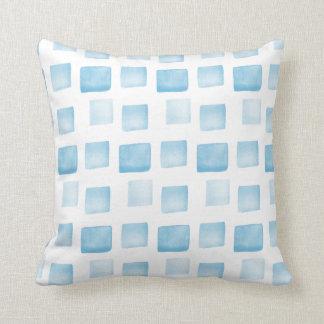 Almofada O azul/Aqua dá forma ao teste padrão