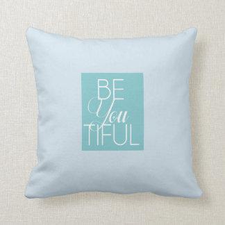 Almofada o azul confortável seja você travesseiro tiful