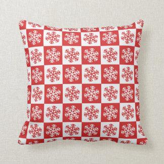Almofada O branco vermelho lasca-se travesseiro decorativo