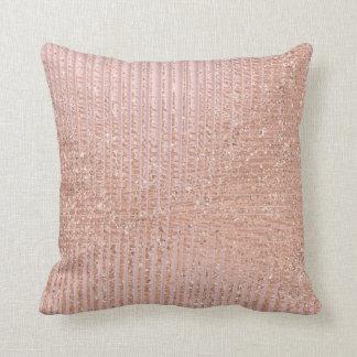 Almofada O brilho urbano do ouro cor-de-rosa do pêssego